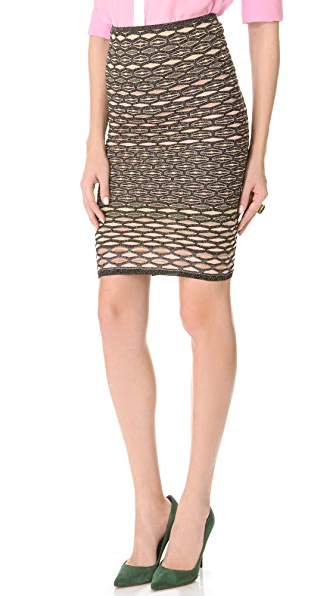 M Missoni Metallic Honeycomb Skirt / Tube Dress