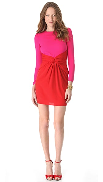 M Missoni Color Block Tie Waist Dress