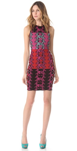 M Missoni Hibiscus Intarsia Open Back Dress