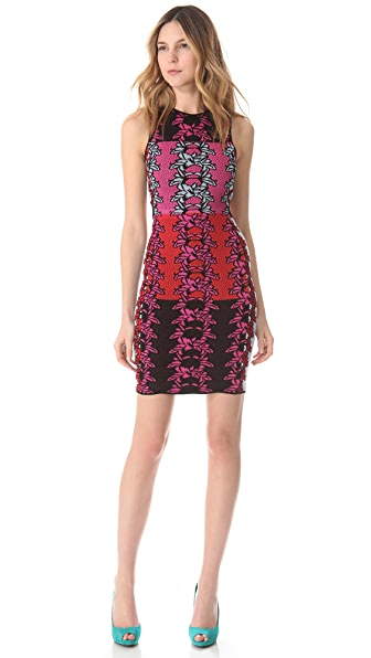 M Missoni Hibiscus Intarsia Open Back Dress