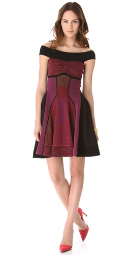 Shop M Missoni Horizon Stripe Off the Shoulder Dress and M Missoni online - Apparel,Womens,Dresses,Day_to_Night, online Store