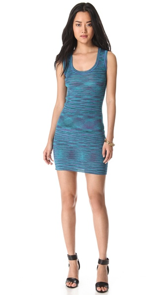 M Missoni Ribbed Space Dye Tank Dress
