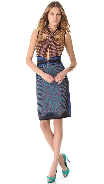M Missoni Space Dye Cutout Dress