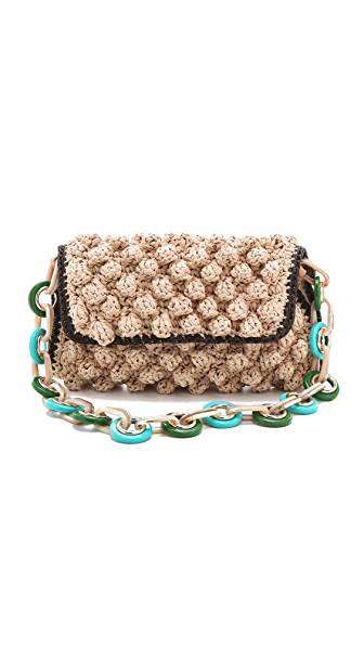 M Missoni Rafia Shoulder Bag