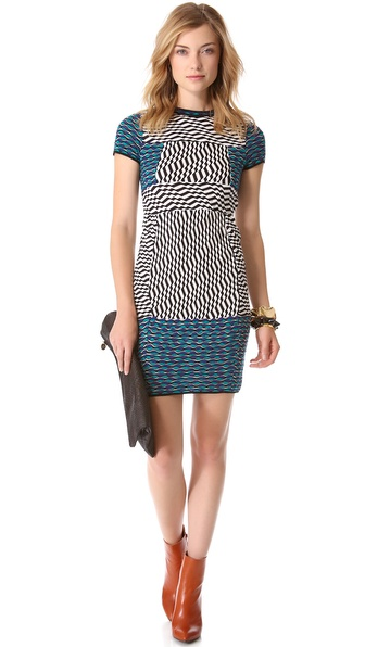 M Missoni Striped Circle Wave Dress