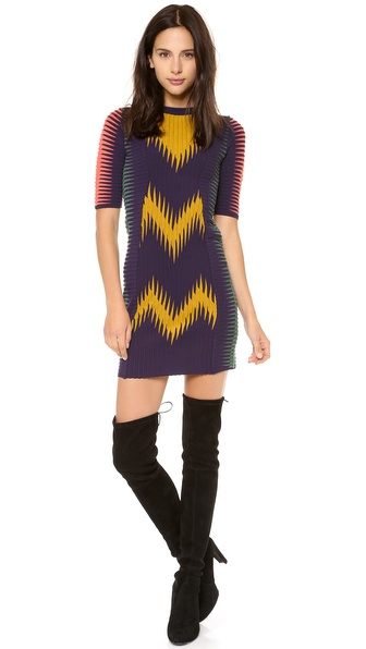 M Missoni Zigzag Ikat Dress