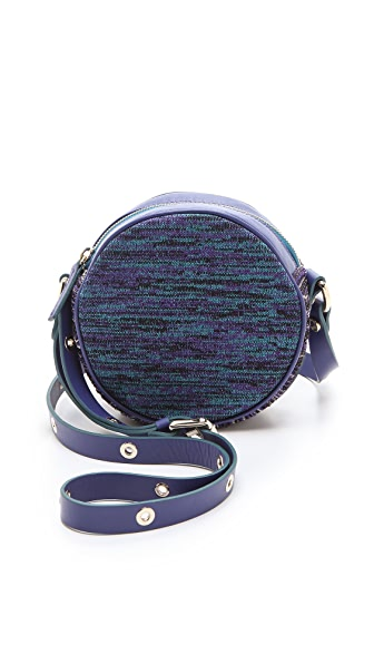 M Missoni Studded Woven Cross Body Bag