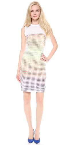M Missoni Grid Stitch Sleeveless Dress