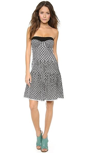 M Missoni Fan Stitch Strapless Dress