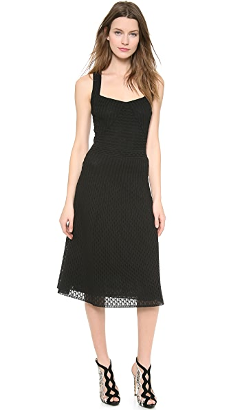 M Missoni Solid Micro Fan Pattern Dress