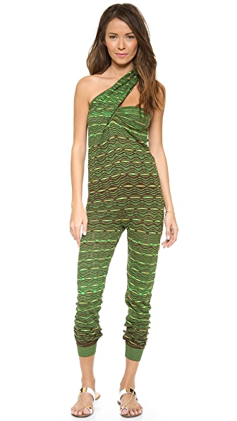 M Missoni One Shoulder Jumpsuit