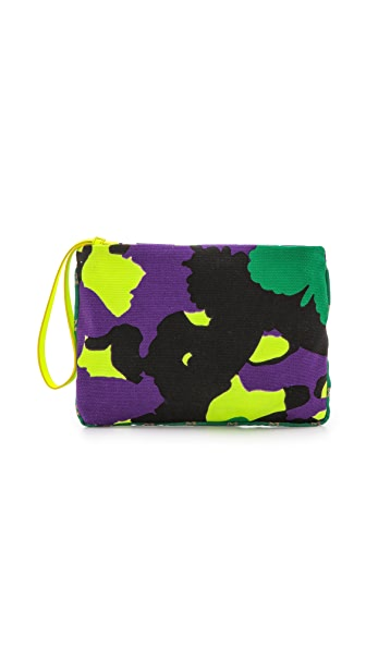 M Missoni Camouflage Canvas Pouch