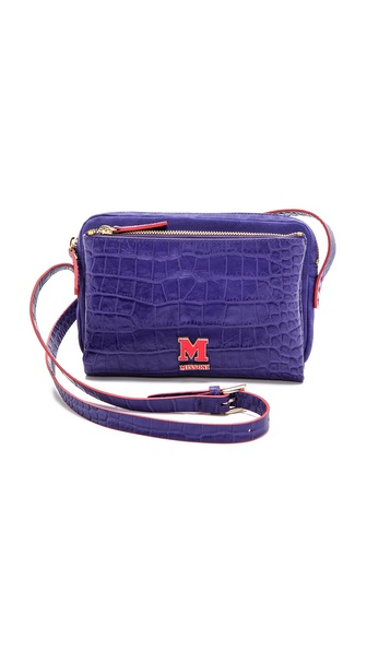 M Missoni Stamped Leather Shoulder Bag