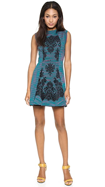 M Missoni Space Dye Dress with Lace Overlay