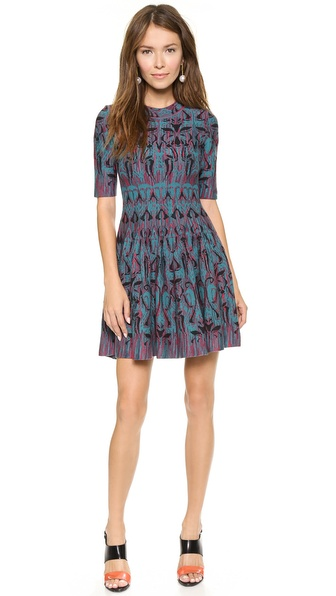 M Missoni Art Deco Fleur de Lis Jaquard Dress