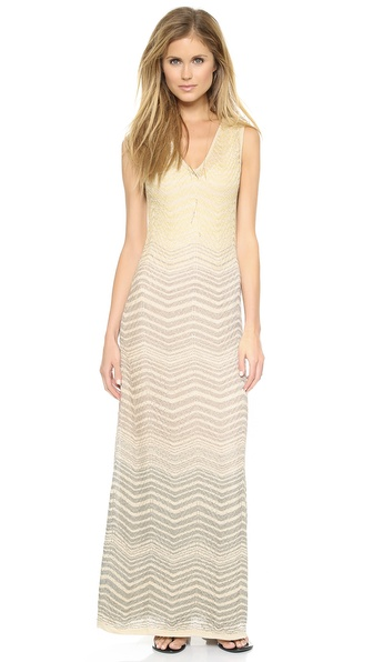 M Missoni Lurex Ripple Knit Maxi Dress