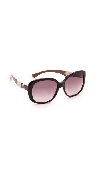 M Missoni Striped Temple Sunglasses