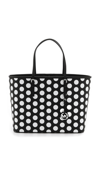 MICHAEL Michael Kors Jet Set Travel Polka Dot Medium Tote