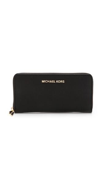 MICHAEL Michael Kors Jet Set Zip Around Continental Wallet