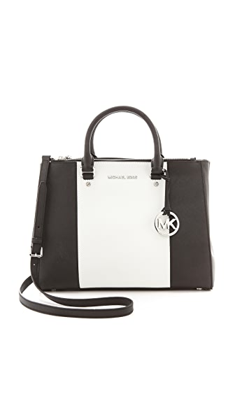 MICHAEL Michael Kors Sutton Center Stripe Satchel