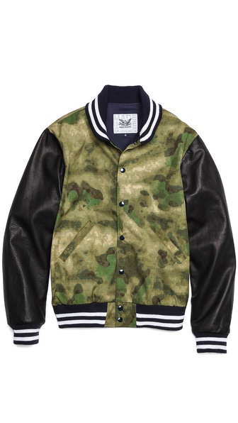 Mark McNairy New Amsterdam Birdie Varsity Jacket