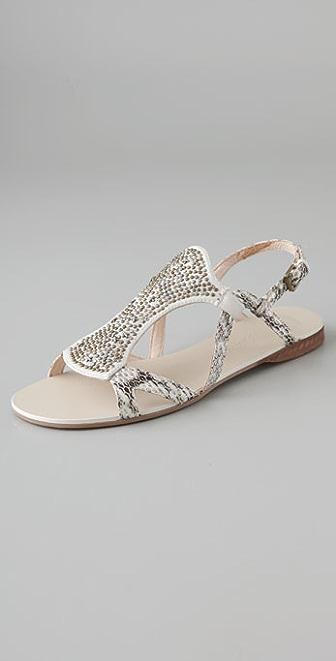 Modern Vintage Shoes Anita Stud Flat Sandals