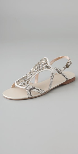 Modern Vintage Shoes Anita Stud Flat Sandals