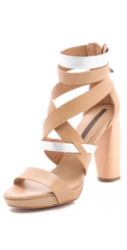 Modern Vintage Shoes Raina Saw Heel Sandals