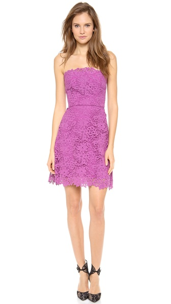 Monique Lhuillier Lace A Line Dress