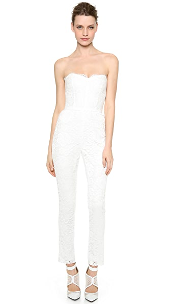 Monique Lhuillier Paige Lace Jumpsuit