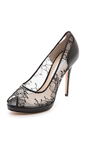 Monique Lhuillier Belle Lace Pumps