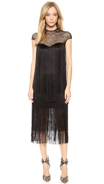 Monique Lhuillier Geometric Lace Dress