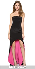 Strapless Strapless Strapless Gown With Contrast Lining (Black)