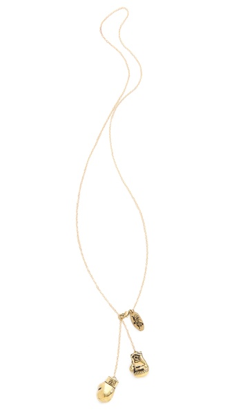 Monserat De Lucca Boxing Gloves Necklace - Gold at Shopbop