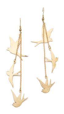 Monserat De Lucca Three Dove Earrings
