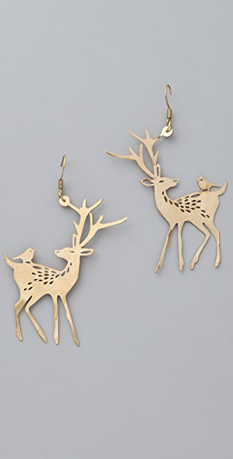 Monserat De Lucca Deer Earrings