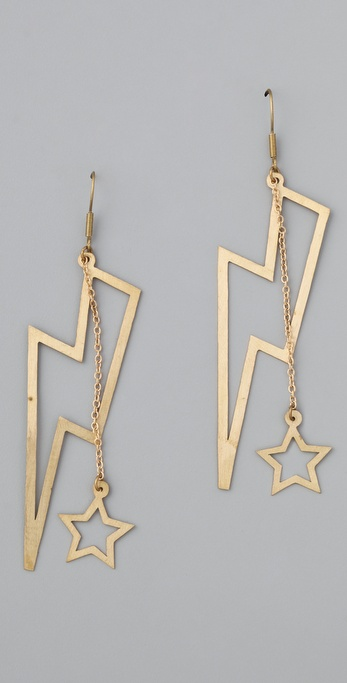 Monserat De Lucca Large Lightning Bolt Earrings