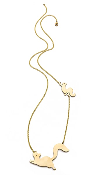 Monserat De Lucca Squirrel Necklace