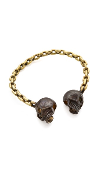 Monserat De Lucca 2 Skull & Chain Bracelet