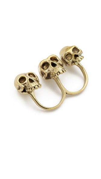 Monserat De Lucca Evolution Skull Knuckle Ring