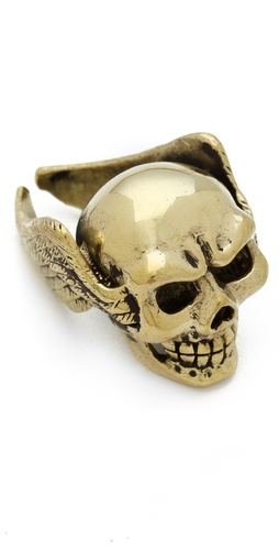 Monserat De Lucca Skull & Wings Ring at Shopbop.com