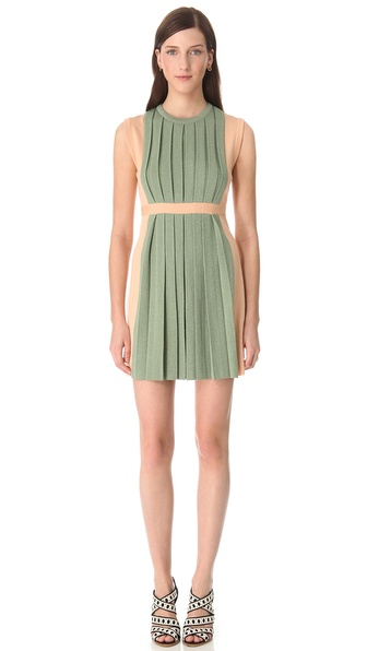 Moschino Sleeveless Pleated Dress