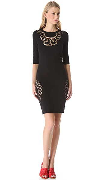 Moschino Eyelet Cutout Knit Dress