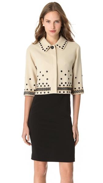 Moschino Studded Crop Jacket