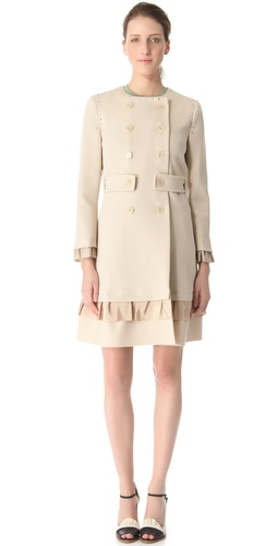 Moschino Crepe Double Pea Coat at Shopbop.com