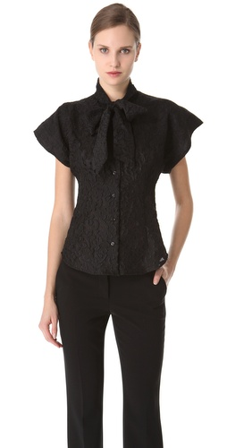 Moschino Tie Neck Blouse at Shopbop.com