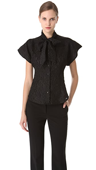 Moschino Tie Neck Blouse