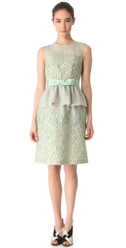 Moschino Sleeveless Peplum Dress with Bow at Shopbop.com