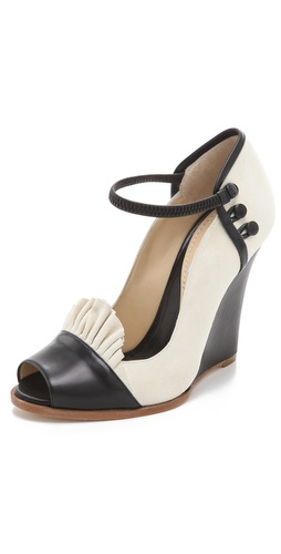 Moschino Suede Open Toe Pumps at Shopbop.com