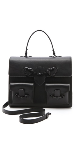 Moschino Black Satchel at Shopbop.com